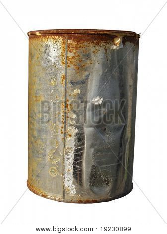 rusted can