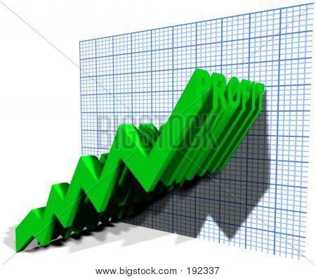 Concepto de gráfico de beneficio