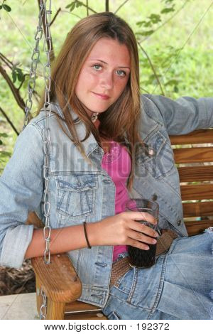 Girl With Cold Drink