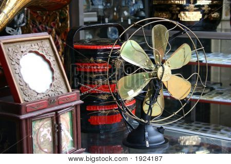 Antique Copper Fan