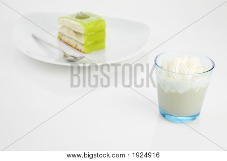 Frappucino And Green Cake