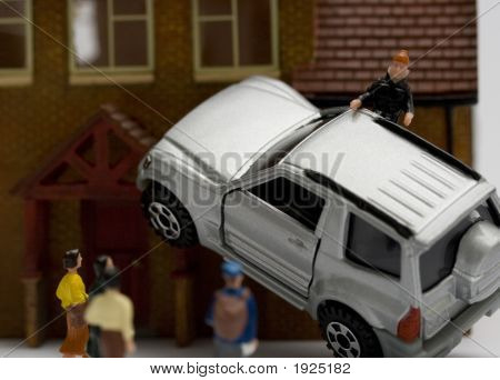 Car Accident In Miniature