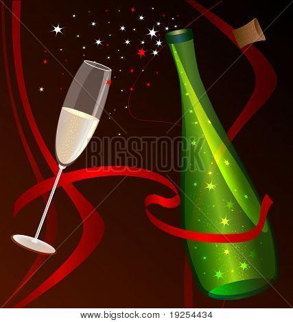 celebratory champane