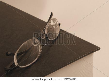 Gafas Libro sepia