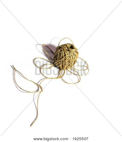 Flower From String On A White Background