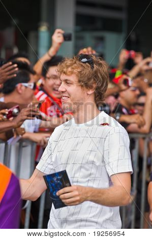 Sepang, Malaysia - April 10: Sebastian Vettel (team Red Bull Racing) At The Autograph Session On For