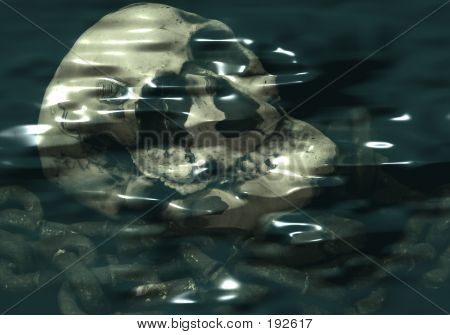 Skull Under Water