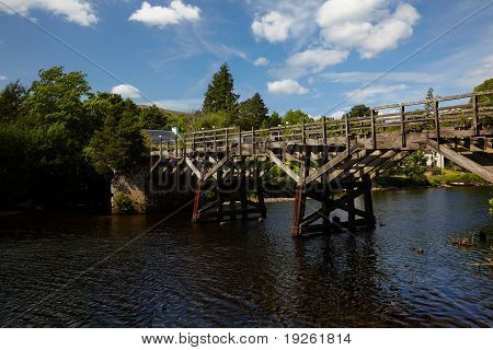 Old Trestle Style Wooden Bridge