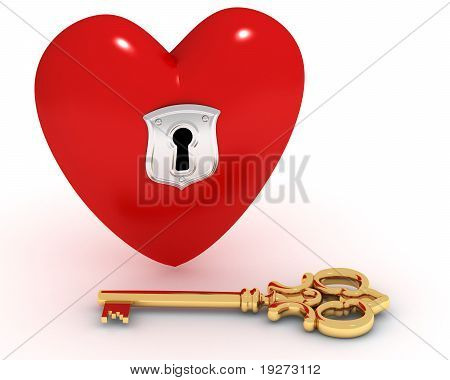 Closed Heart And Key