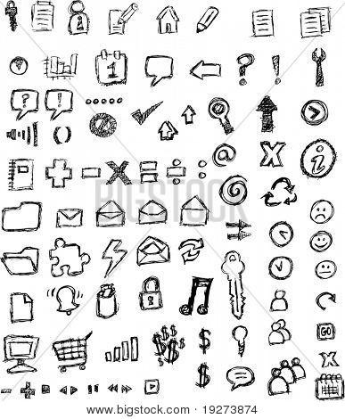 iconos bosquejados