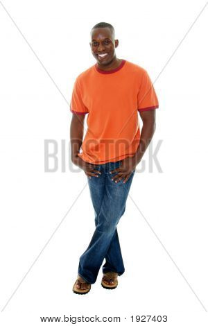 Casual Man In T Shirt And Jeans 1