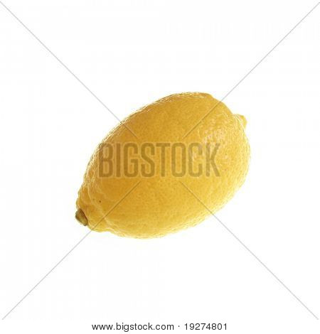 ripe juicy lemon isolated on white background