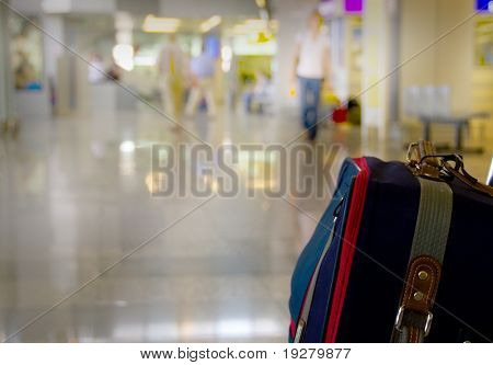 Traveling bags at the airport