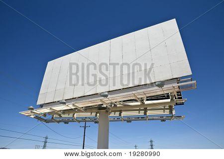 Blank highway billboard in California's Mojave desert.