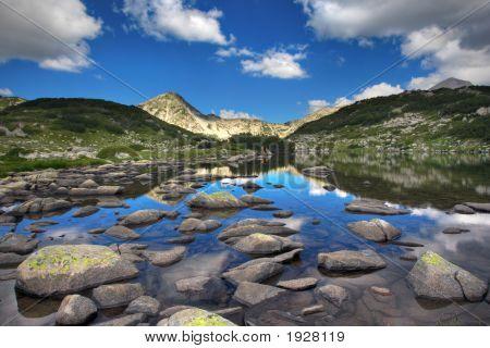 Glacial Lake And Rocks At National Park Pirin, Bulgaria