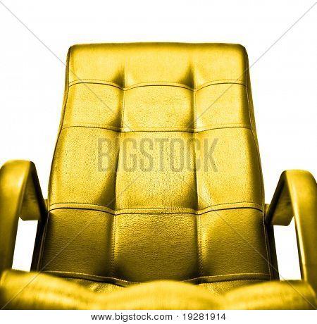Golden armchair concept