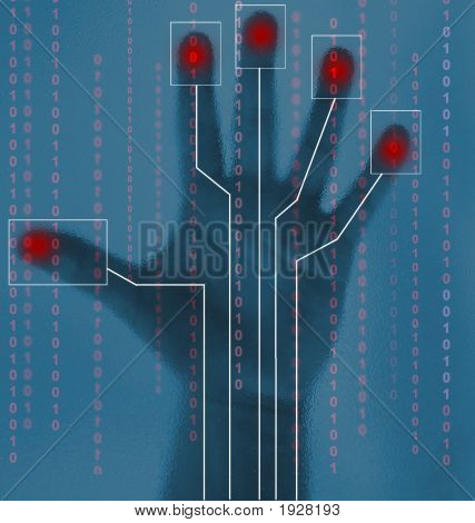Security Abstract Of Biometric Hand Scan