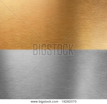 Very sharp and clean and detailed aluminum and bronze stitched textures