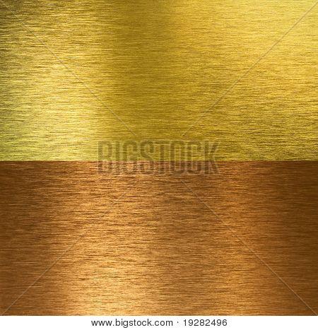 Escovado bronze e latão texturas costuradas