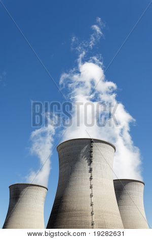 vertical smokestacks