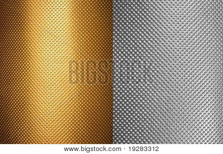 perforated aluminum and bronze textures