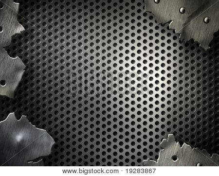 High quality perforated  aluminum texture
