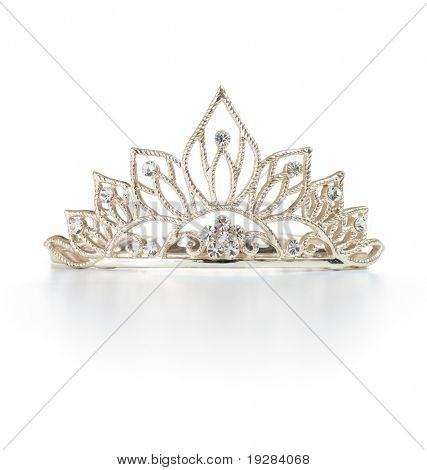 Tiara or diadem with reflection