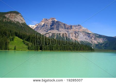 Beautiful Emerald lake, Yoho National park, Canada