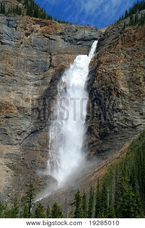 Takakkaw Falls, Yoho National Park, the third highest in Canada