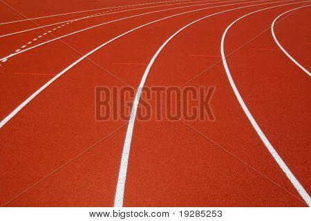 pista de la raza roja en una arena