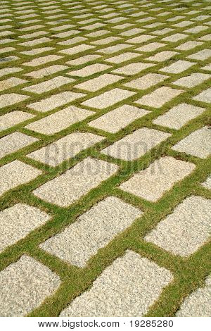 flagstone courtyard