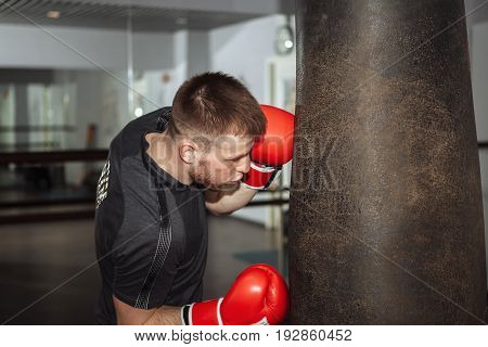 A Young Man Is Boxing