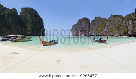 Panoramic Lagoon in Thailand, Phi Phi islands