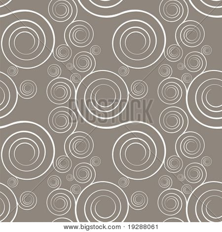 Vector interlocking spirals repeat tile pattern.