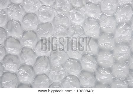 Large bubble wrap detail view with side lighting
