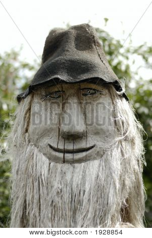 Wooodcarving Figure In Country