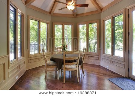 Elegant kitchen breakfast nook