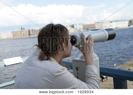 Girl With Spyglass