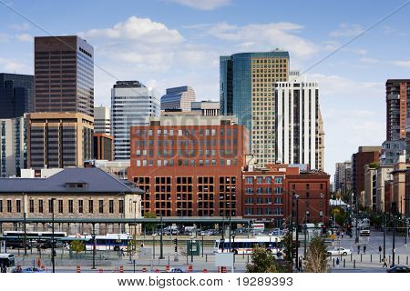 Denver Skyline From 16th Street