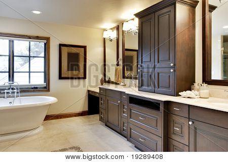 Bathroom with Custom Cabinetry