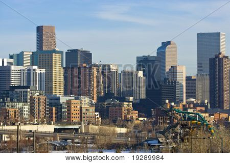 Denver Colorado USA Skyline Winter 2009