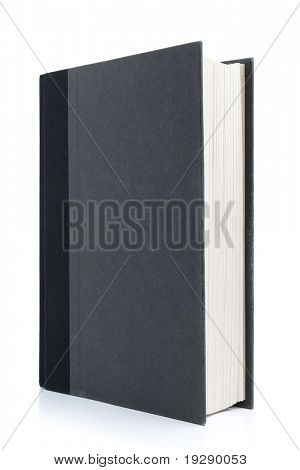 Black Hardcover Book Isolated on White