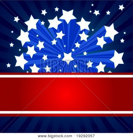 An American starburst background