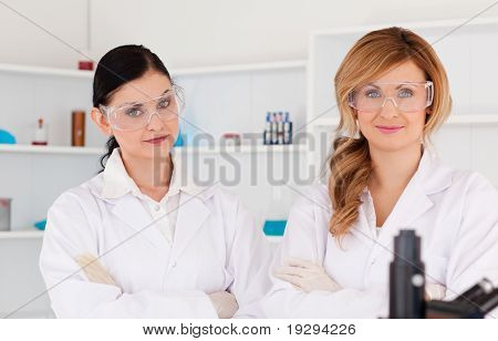 Two scientists posing