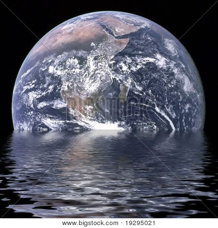 Planet earth is sinking due to global warming