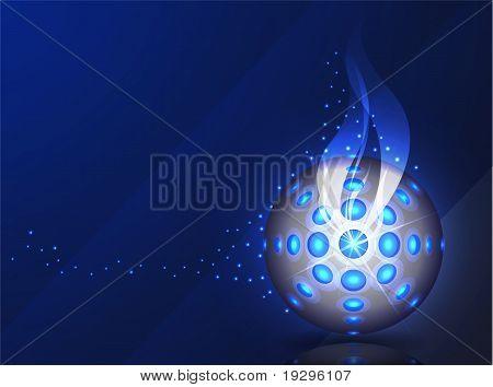 blue vector background - disco ball