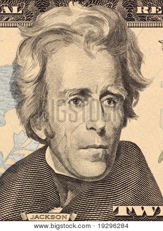 USA - CIRCA 2006: Andrew Jackson on 20 Dollars 2006 Banknote from U.S.A. Seventh president of the United States (1829-1837).