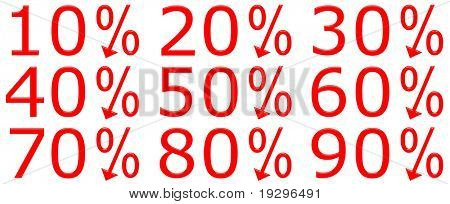 3d discount percentages