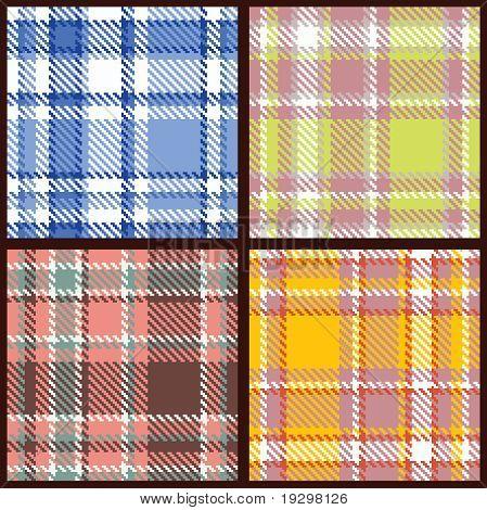 Conjunto de Vector de cuadros patrón