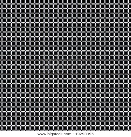 a large image of silver or chrome chain link mesh